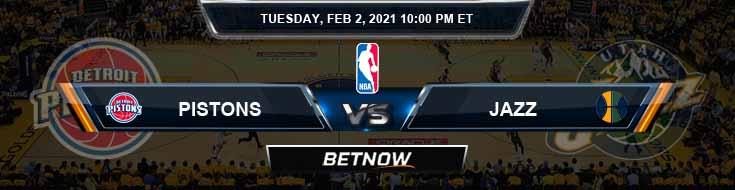 Detroit Pistons vs Utah Jazz 2-2-2021 Spread Picks and Game Analysis