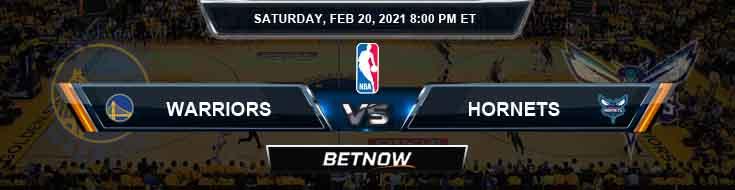 Golden State Warriors vs Charlotte Hornets 2-20-2021 NBA Odds and Picks
