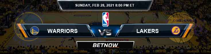 Golden State Warriors vs Los Angeles Lakers 2/28/2021 NBA Odds and Picks