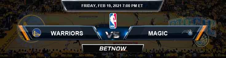 Golden State Warriors vs Orlando Magic 2-19-2021 Spread Odds and Picks