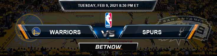 Golden State Warriors vs San Antonio Spurs 2-9-2021 NBA Odds and Picks