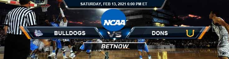 Gonzaga Bulldogs vs San Francisco Dons 02-13-2021 Basketball Betting Odds & Predictions
