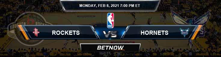 Houston Rockets vs Charlotte Hornets 2-8-2021 Odds Picks and Previews