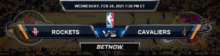 Houston Rockets vs Cleveland Cavaliers 2-24-2021 NBA Spread and Picks