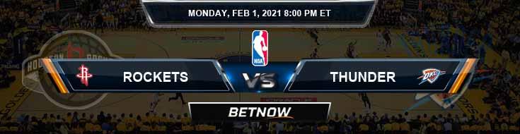 Houston Rockets vs Oklahoma City Thunder 2-1-2021 NBA Spread and Picks