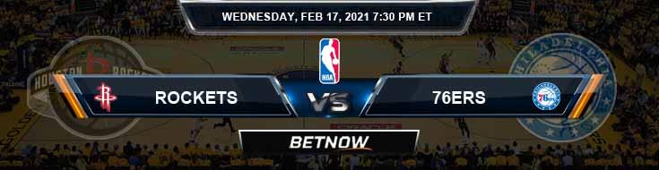 Houston Rockets vs Philadelphia 76ers 2-17-2021 NBA Picks and Previews