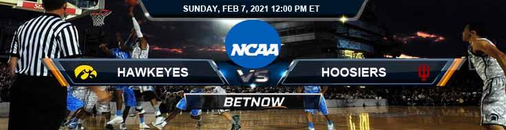 Iowa Hawkeyes vs Indiana Hoosiers 02-07-2021 NCAAB Predictions Previews & Picks