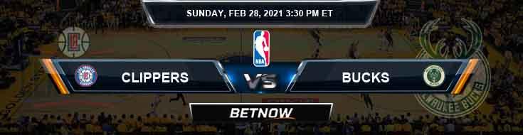 Los Angeles Clippers vs Milwaukee Bucks 2/28/2021 NBA Spread and Picks