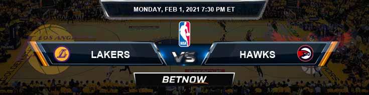 Los Angeles Lakers vs Atlanta Hawks 2-1-2021 Odds Spread and Previews