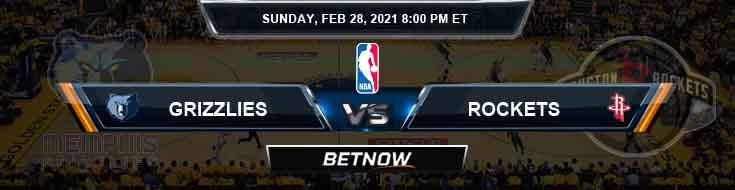 Memphis Grizzlies vs Houston Rockets 2-28-2021 NBA Picks and Previews