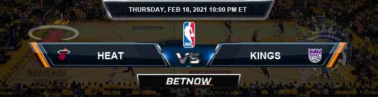Miami Heat vs Sacramento Kings 2-18-2021 Spread Picks and Prediction