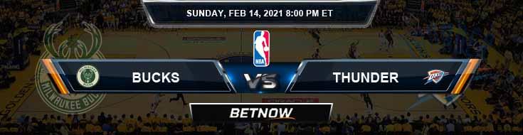 Milwaukee Bucks vs Oklahoma City Thunder 2-14-2021 NBA Odds and Picks