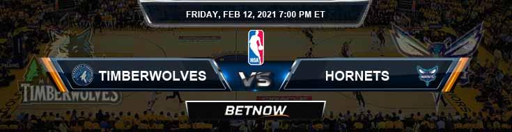 Minnesota Timberwolves vs Charlotte Hornets 2-12-2021 NBA Spread and Picks