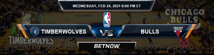 Minnesota Timberwolves vs Chicago Bulls 2-24-2021 NBA Spread and Picks