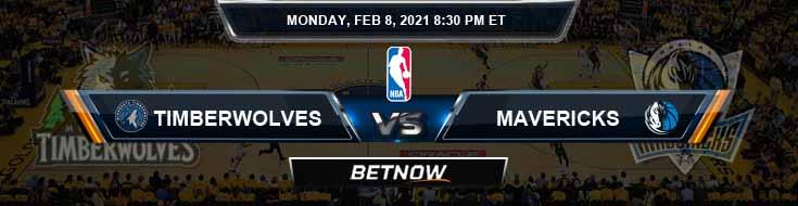 Minnesota Timberwolves vs Dallas Mavericks 2-8-2021 NBA Odds and Picks