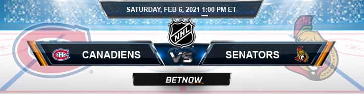Montreal Canadiens vs Ottawa Senators 02/06/2021 Game Analysis, NHL Tips and Forecast