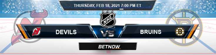 New Jersey Devils vs Boston Bruins 02-18-2021 Hockey Previews Spread and Game Analysis