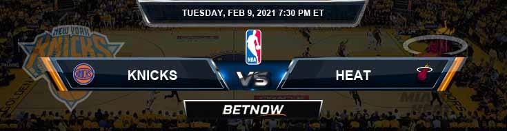New York Knicks vs Miami Heat 2-9-2021 Spread Previews and Prediction