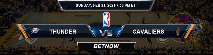 Oklahoma City Thunder vs Cleveland Cavaliers 2-21-2021 NBA Odds and Picks