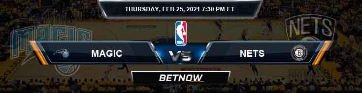 Orlando Magic vs Brooklyn Nets 2-25-2021 Picks Previews and Prediction