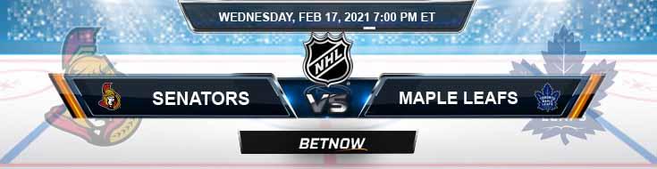 Ottawa Senators vs Toronto Maple Leafs 02-17-2021 NHL Predictions Previews and Hockey Spread