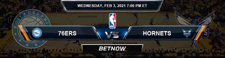 Philadelphia 76ers vs Charlotte Hornets 2-3-2021 Odds Picks and Previews