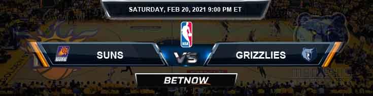 Phoenix Suns vs Memphis Grizzlies 2-20-2021 Spread Picks and Prediction