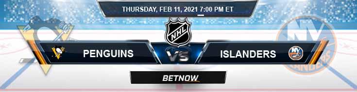 Pittsburgh Penguins vs New York Islanders 02/11/2021 Hockey Betting, Odds and NHL Picks