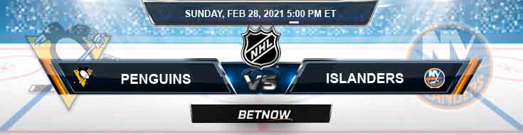 Pittsburgh Penguins vs New York Islanders 02/28/2021 NHL Analysis, Results and Hockey Betting