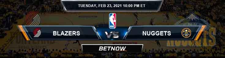 Portland Trail Blazers vs Denver Nuggets 2-23-2021 NBA Spread and Picks
