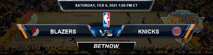 Portland Trail Blazers vs New York Knicks 2-6-2021 NBA Odds and Picks