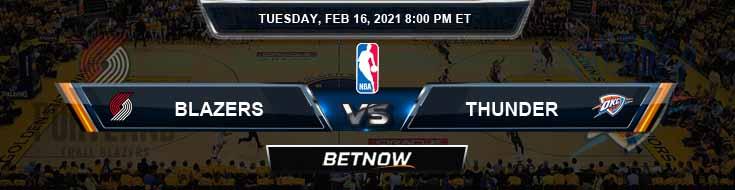 Portland Trail Blazers vs Oklahoma City Thunder 2-16-2021 NBA Odds and Picks