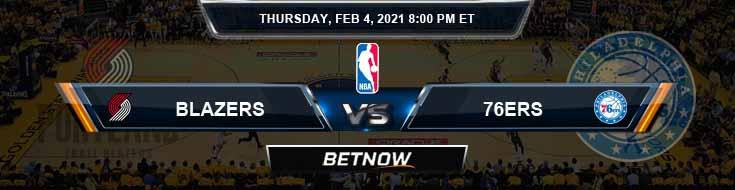 Portland Trail Blazers vs Philadelphia 76ers 2-4-2021 NBA Spread and Picks