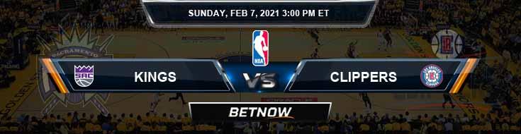 Sacramento Kings vs Los Angeles Clippers 2-7-2021 NBA Picks and Previews