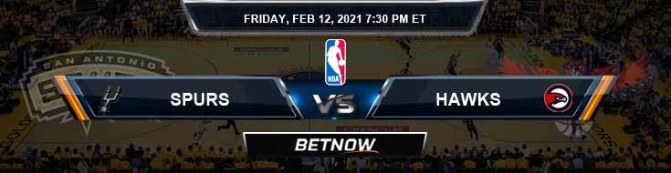 San Antonio Spurs vs Atlanta Hawks 2-12-2021 Odds Picks and Previews