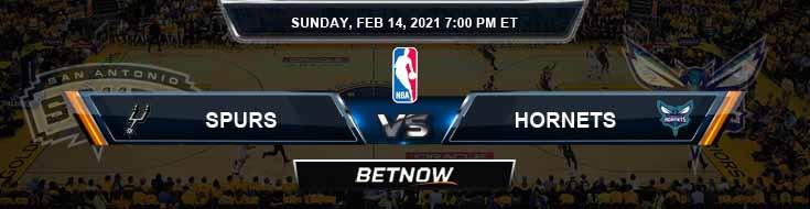 San Antonio Spurs vs Charlotte Hornets 2-14-2021 NBA Picks and Previews