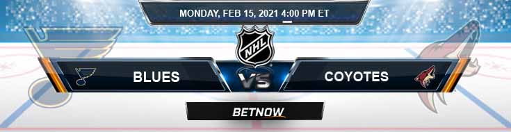 St. Louis Blues vs Arizona Coyotes 02/15/2021 NHL Odds, Picks and Hockey Predictions