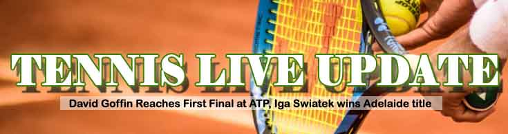 Tennis Live Update David Goffin Reaches First Final at ATP Swiatek wins Adelaide Title