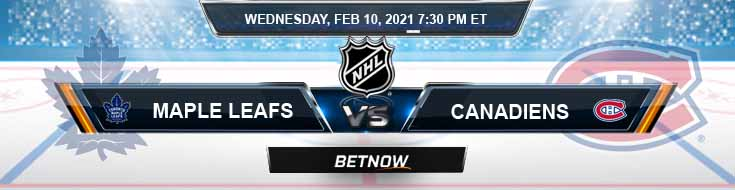 Toronto Maple Leafs vs Montreal Canadiens 02/10/2021 Results, Hockey Betting and Odds