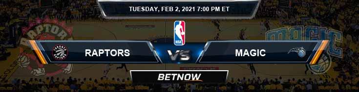Toronto Raptors vs Orlando Magic 2-2-2021 Spread Picks and Previews