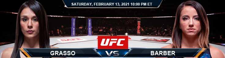 UFC 258 Grasso vs Barber 02-13-2021 Picks Predictions and Previews