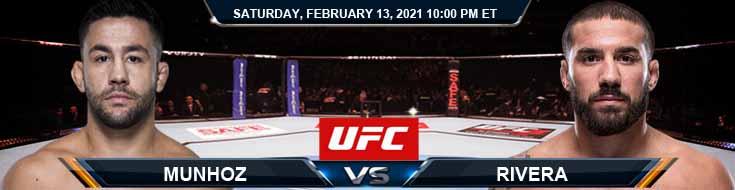 UFC 258 Munhoz vs Rivera 02-13-2021 Previews Spread and Fight Analysis