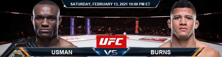 UFC 258 Usman vs Burns 02-13-2021 Odds Picks and Predictions