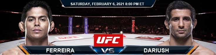 UFC Fight Night 184 Ferreira vs Dariush 02-06-2021 Fight Analysis Forecast and UFC Tips