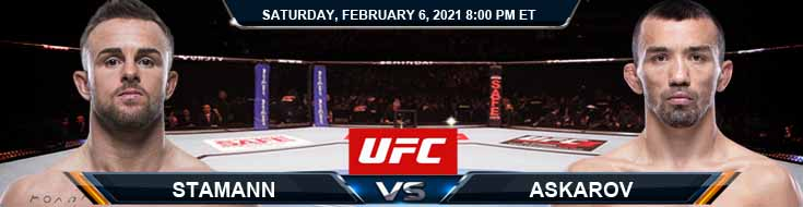 UFC Fight Night 184 Stamann vs Askarov 02-06-2021 Spread Fight Analysis and Forecast