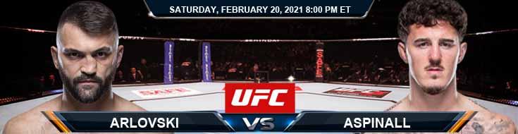 UFC Fight Night 185 Arlovski vs Aspinall 02-20-2021 Spread Fight Analysis and Forecast