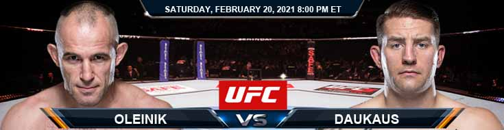 UFC Fight Night 185 Oleinik vs Daukaus 02-20-2021 Previews Spread and Fight Analysis