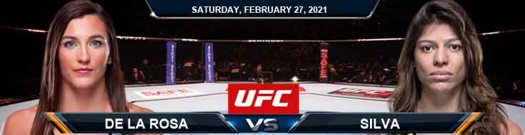 UFC Fight Night 186 De La Rosa vs Silva 02-27-2021 Predictions Fight Previews and Spread