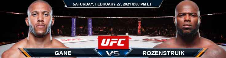 UFC Fight Night 186 Gane vs Rozenstruik 02-27-2021 Odds Picks and Predictions