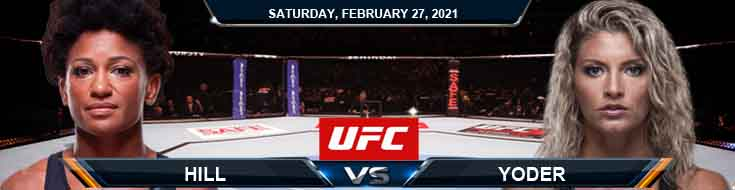 UFC Fight Night 186 Hill vs Yoder 02-27-2021 Spread Fight Analysis and Forecast